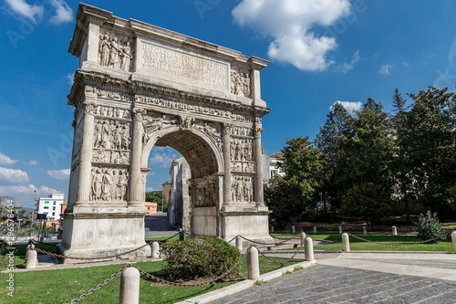 Ancient Roman Arch of Trajan in Benevento, Italy Wallpaper Mural