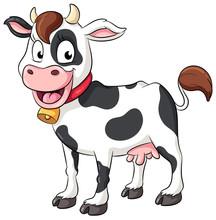 Niedliche Kuh - Vektor Illustration