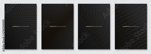 Vector abstract background, creative subtle halftone patterns, geometric gradient texture Obraz na płótnie