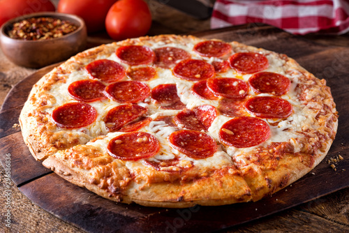 Brick Oven Baked Pepperoni Pizza