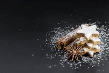 Star Shaped Cinnamon Cookies W...