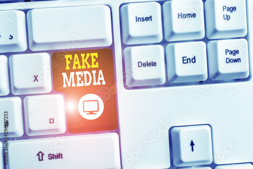 Fotografie, Obraz  Text sign showing Fake Media