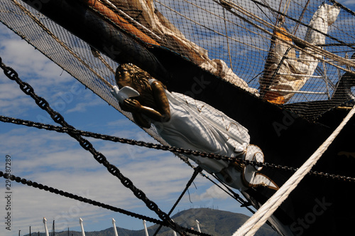 figurehead of an ancient sailing ship Canvas