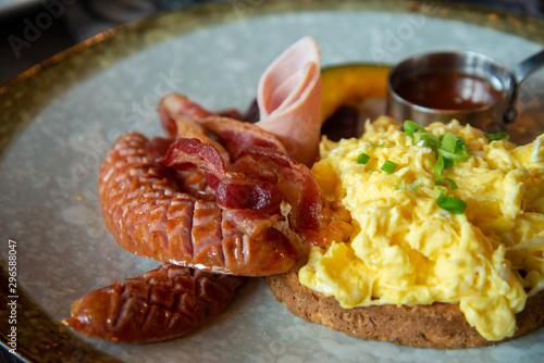 Fotobehang Brood Breakfast set