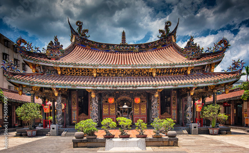 Longshan Temple in Taipei Tableau sur Toile