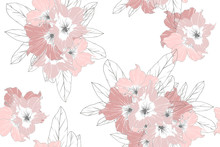Seamless Pattern Of Pink Azale...