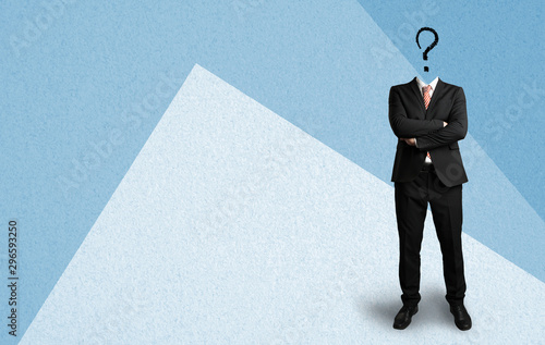 headless businessman with a questionmark