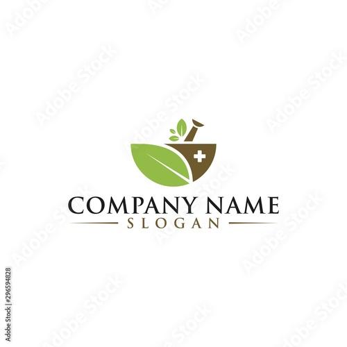 Photo Natural Organic Eco Bio Green Logo design vector template