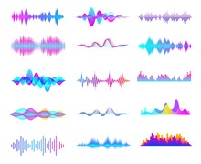 Colorful Sound Waves. Audio Si...