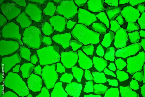 Green cristals abstract background. - 296597257