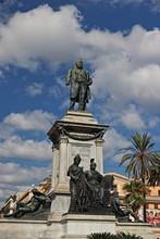 Cavour Statue In Rome
