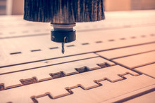 CNC Milling Machine. Template,...