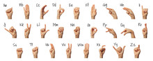 Woman Showing ASL Alphabet On ...