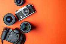 Digital SLR Camera And Film Ca...