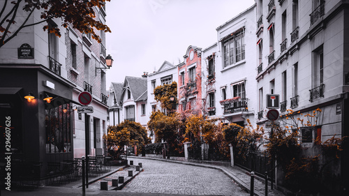 Streets of Paris, France in autumn.