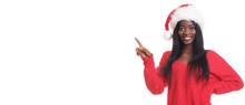 African Model In Santa Claus H...