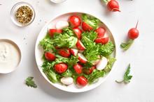 Radish Salad With Lettuce Leaves