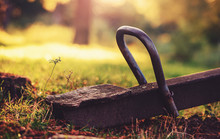 Old Wooden Teeter Totter In Th...