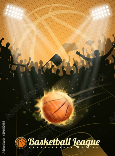 Fototapeta burning basketball fun obraz