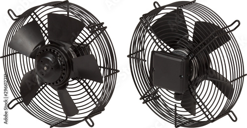 Industrial air blower turbine fan for ventilation and air conditioning isolated Wallpaper Mural