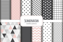 Cute Set Of Scandinavian Geome...