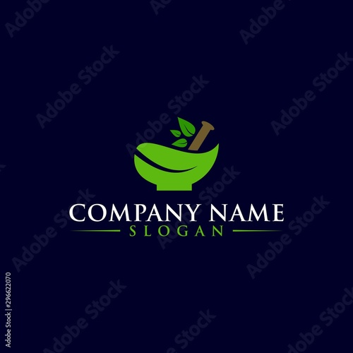 Fotografía Natural Organic Eco Bio Green Logo design vector template