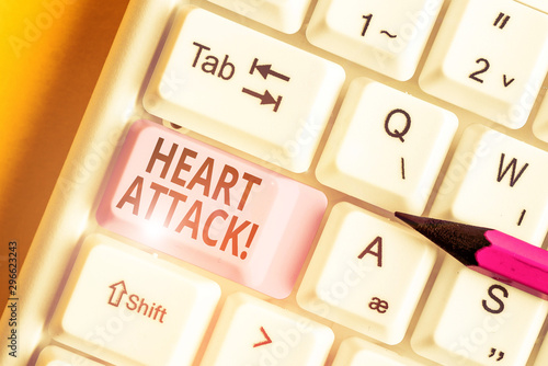 Conceptual hand writing showing Heart Attack Tablou Canvas