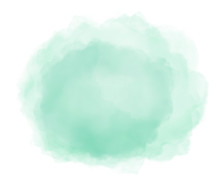 Abstract Mint Green Watercolor...