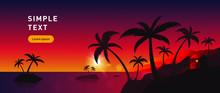 Sunset On The Sea, Summer, Pal...