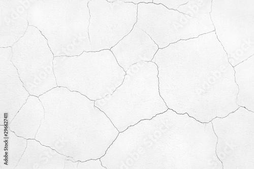 Cuadros en Lienzo Wyite wall with cracks