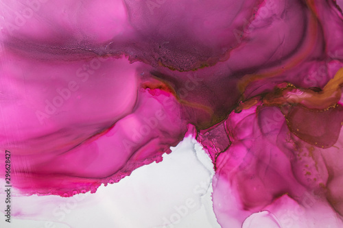 In de dag Roze Part of original alcohol ink painting. Modern art. Abstract colorful background, wallpaper. Marble texture. Fluid Art for modern banners, ethereal graphic design.