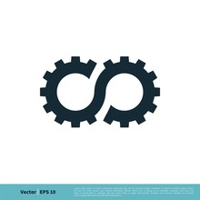 Gear Infinity Icon Vector Logo...