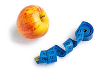 An Apple And Measuring Tape Is...