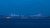 July 15 Martyrs Bridge (formerly Bosphorus Bridge) Evening view from Sarayburnu, Istanbul, Turkey