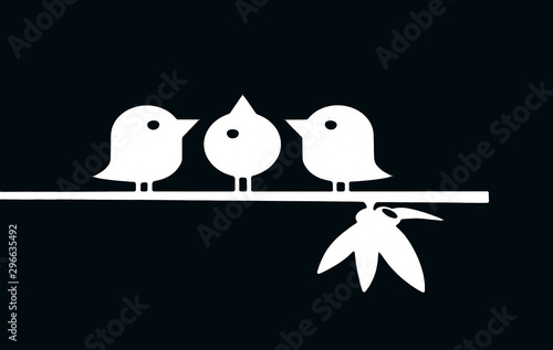 Bird on tree background Canvas Print