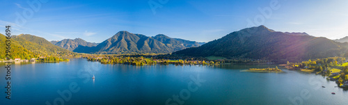 Papiers peints Alpes Tegernsee lake in Bavaria. Germany. Aerial Panorama. Beautiful and famous Spot