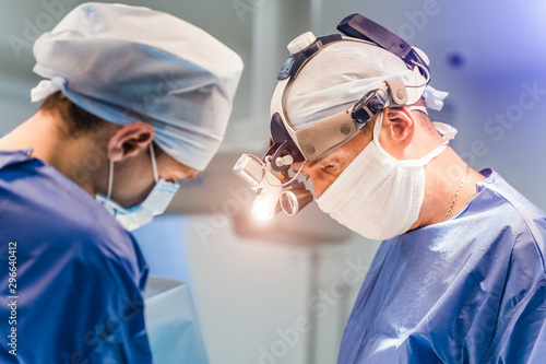 Fotomural Process of surgery operation using medical equipment