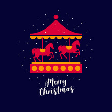 Image Of Festive Carousel With...