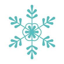 Green Snowflake Decoration Celebration Merry Christmas