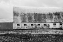 Weathered Wooden Farm Barn Shed