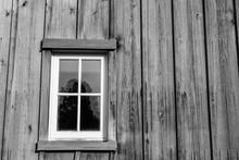 Old Weathered Wood Barn Farm Window