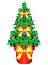 Christmas Tree In A Flowerpot....