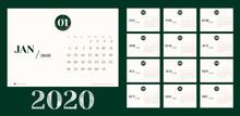 Vector 2020 New Year Calendar ...