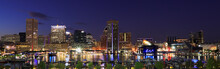 Colorful Baltimore Skyline Ove...