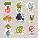 Different taglines sticker cartoon vector illustration on White Background