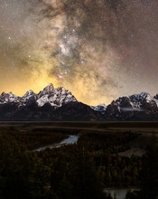 Milky Way Above Grand Tetons