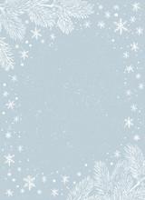 Christmas Border. Vector Frame...