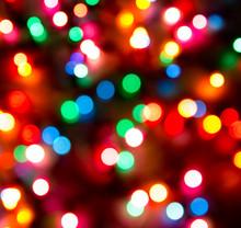 Defocused Christmas Lights Bac...