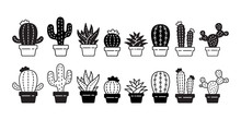 Cactus Vector Icon Desert Flow...