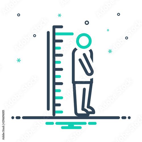 Fotografía  Black mix icon for height